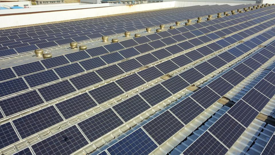 A Photovoltaic Project on The Roof of A Factory Building