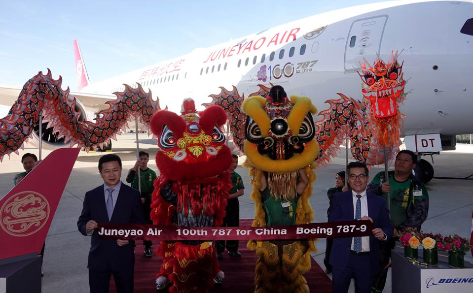 U.S-SEATTLE-BOEING-100TH 787 AIRCRAFT-CHINESE AIRLINE INDUSTRY-DELIVERY