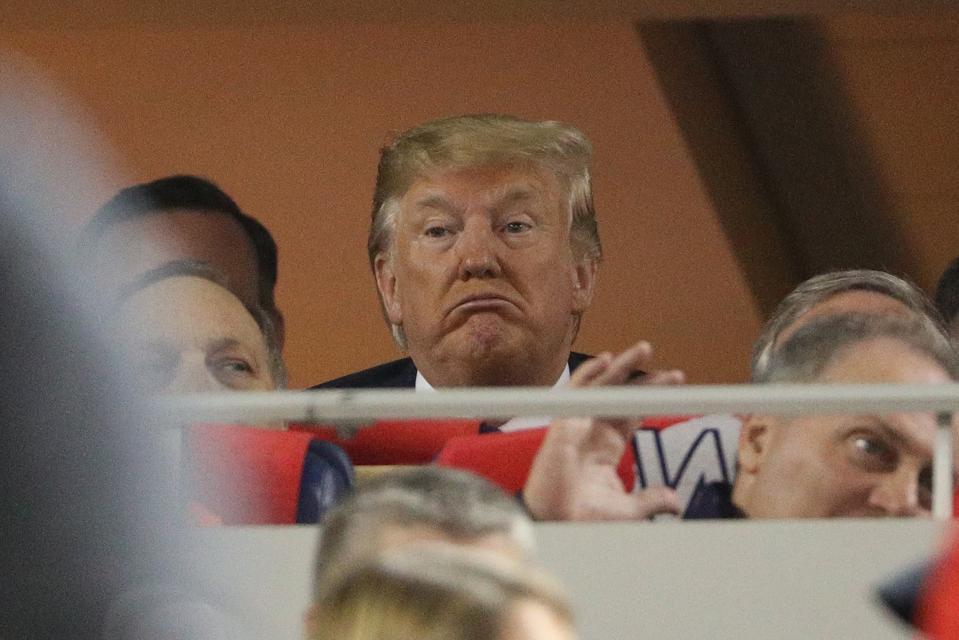 President Trump Faces 'Lock Him Up' Chants At World Series Baseball Game