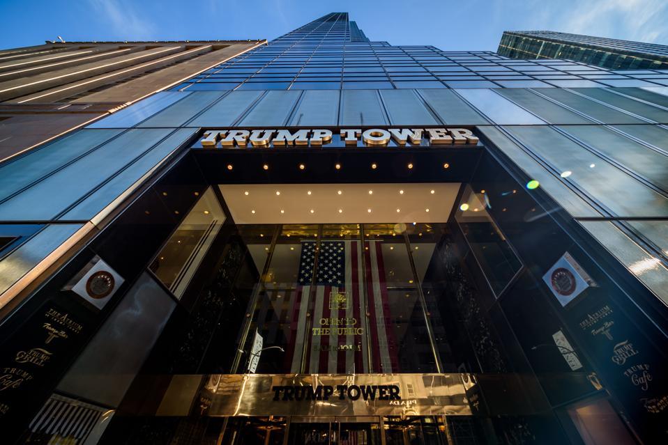 Trump Tower's Fifth Avenue entrance.