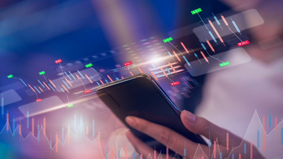 Stock exchange data on smart phone