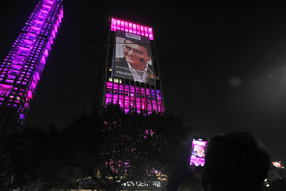 Buildings/Monuments Illuminated On The Eve Of Indias First Pink Ball Test Match Against Bangladesh