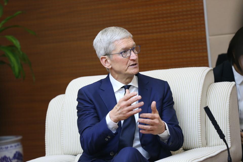 Apple CEO Tim Cook Visits Beijing