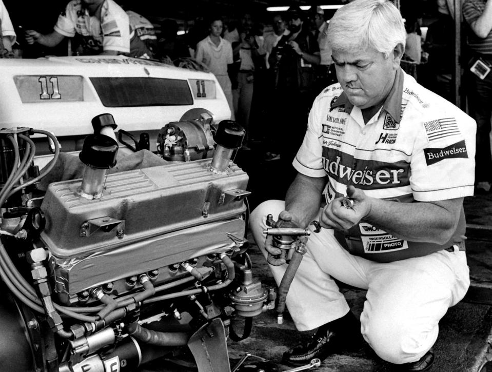 Junior Johnson at 1985 Daytona 500 NASCAR race