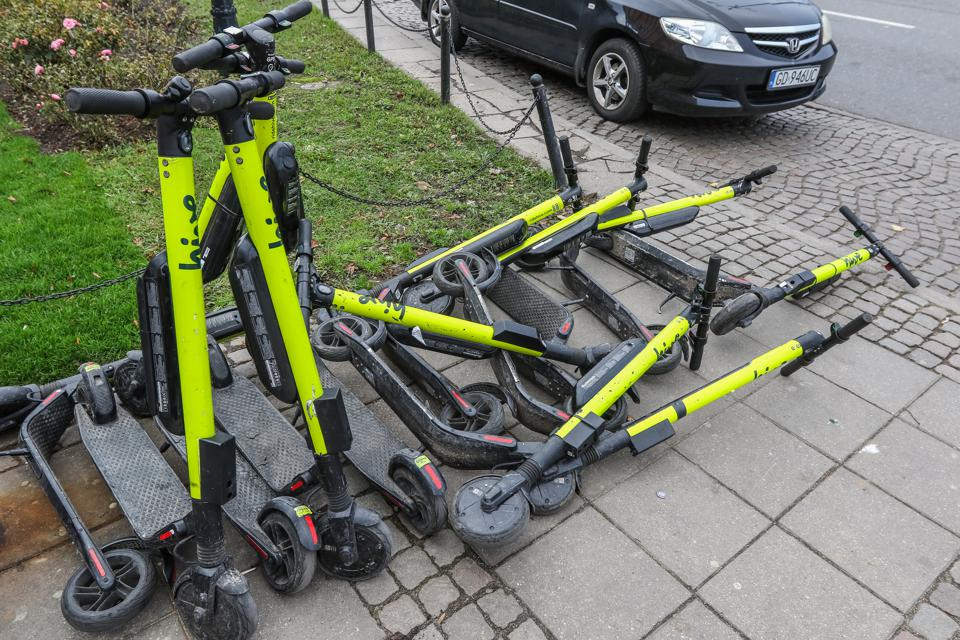 Kick Scooters Sharing In Gdansk