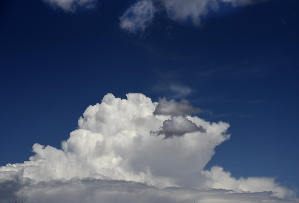 Cumulus clouds in Southwest USA