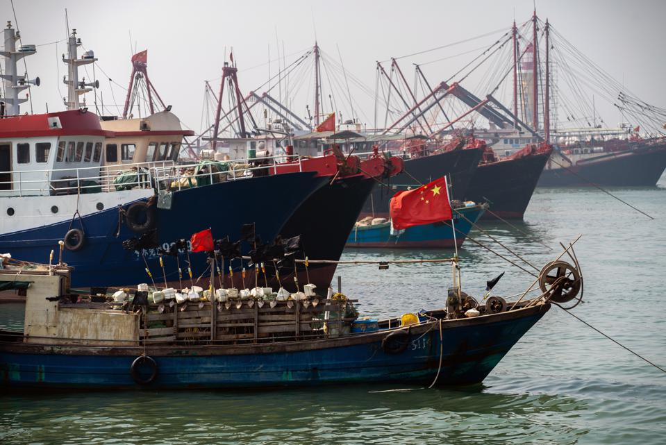 The South China sea is one of the busiest ship trafficking regions in the world.
