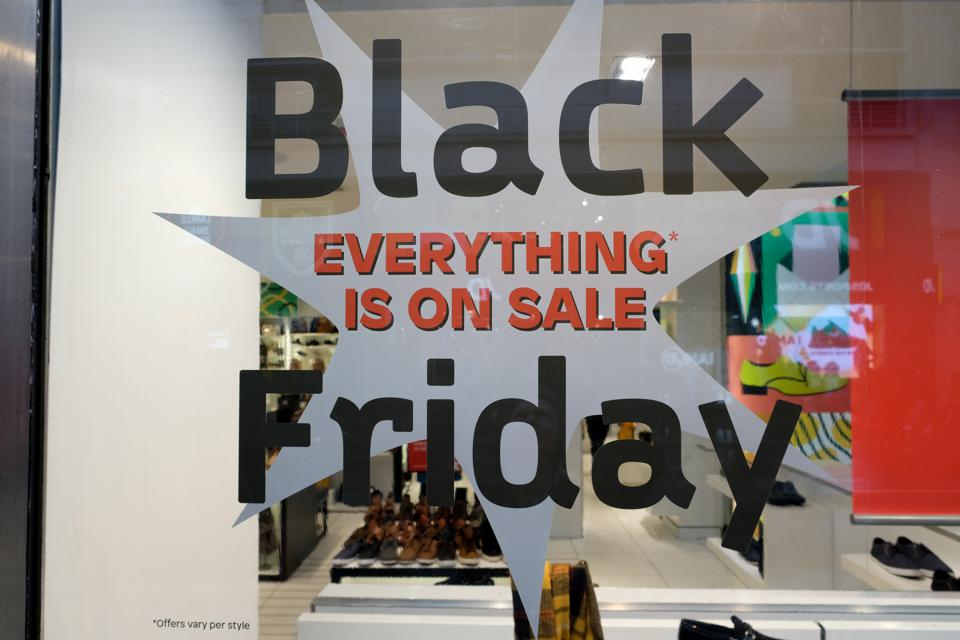 Shops on Oxford Street prepare for Black Friday