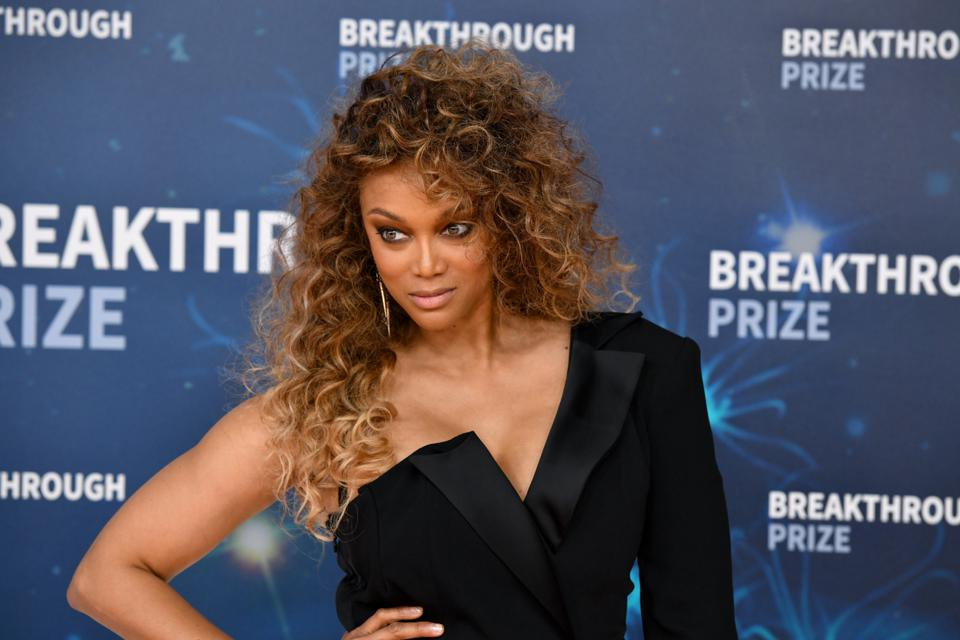 Tyra Banks attends the 2020 Breakthrough Prize Red Carpet on November 03, 2019