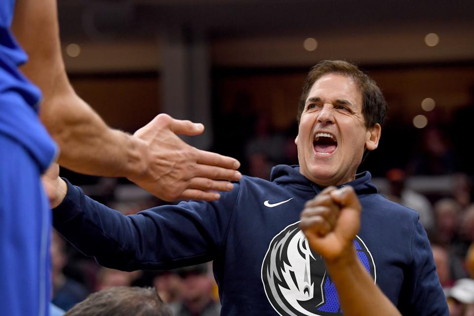 Dallas Mavericks owner Mark Cuban during a November 3 game against the Cleveland Cavaliers.