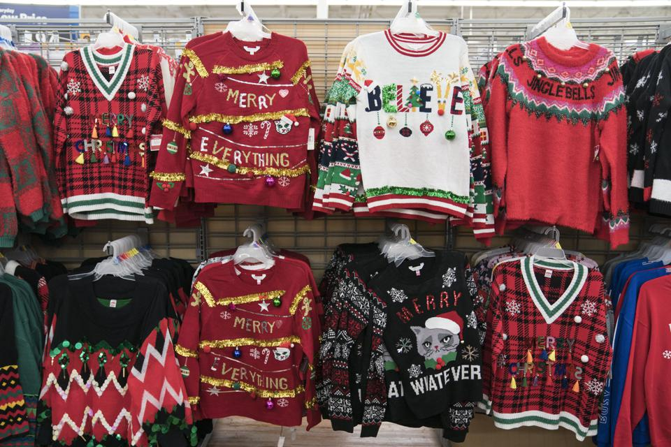 Christmas sweaters on sale in Walmart