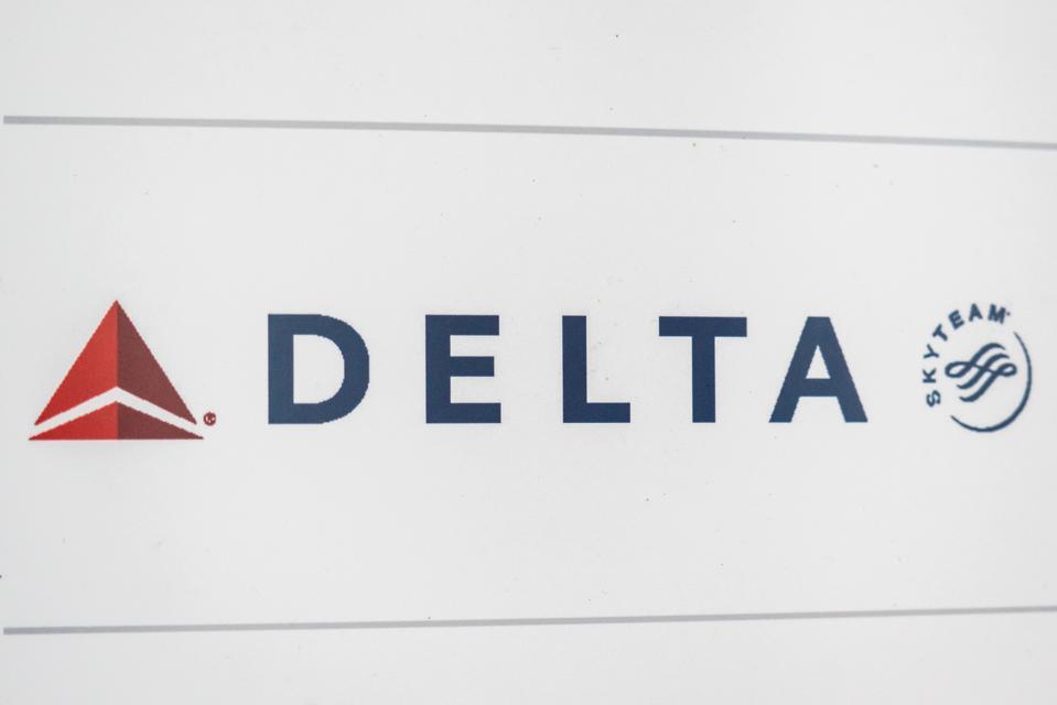 Delta Airlines logo seen at Hartsfield-Jackson Atlanta...