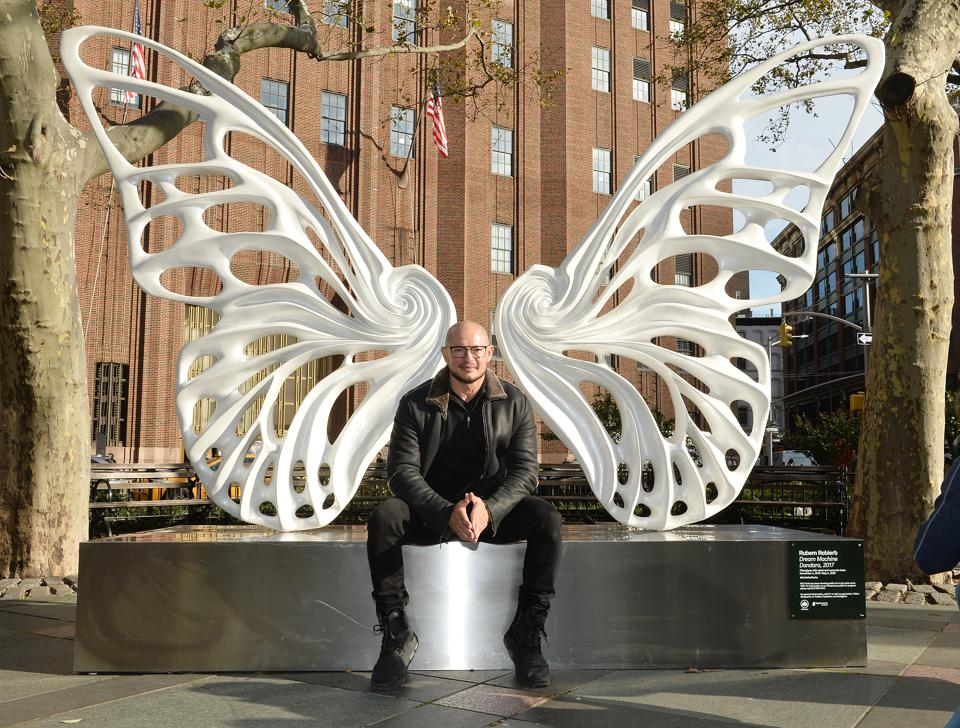 Rubem Robierb Unveils New Sculpture Dedicated To The Transgender GNC Community In NYC's Tribeca Park, In Partnership with Mastercard