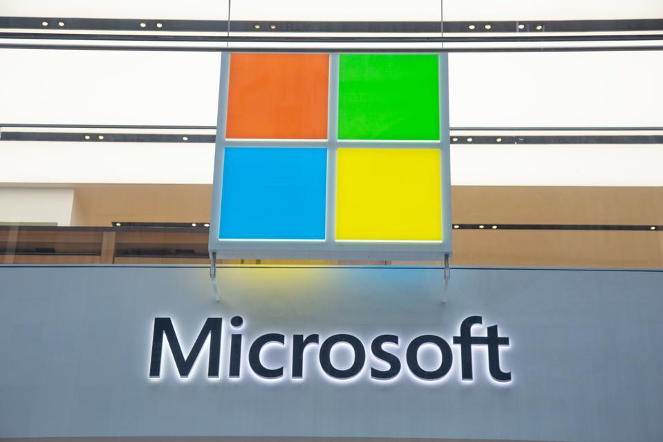 Microsoft logo displayed, 250 million customer records exposed online