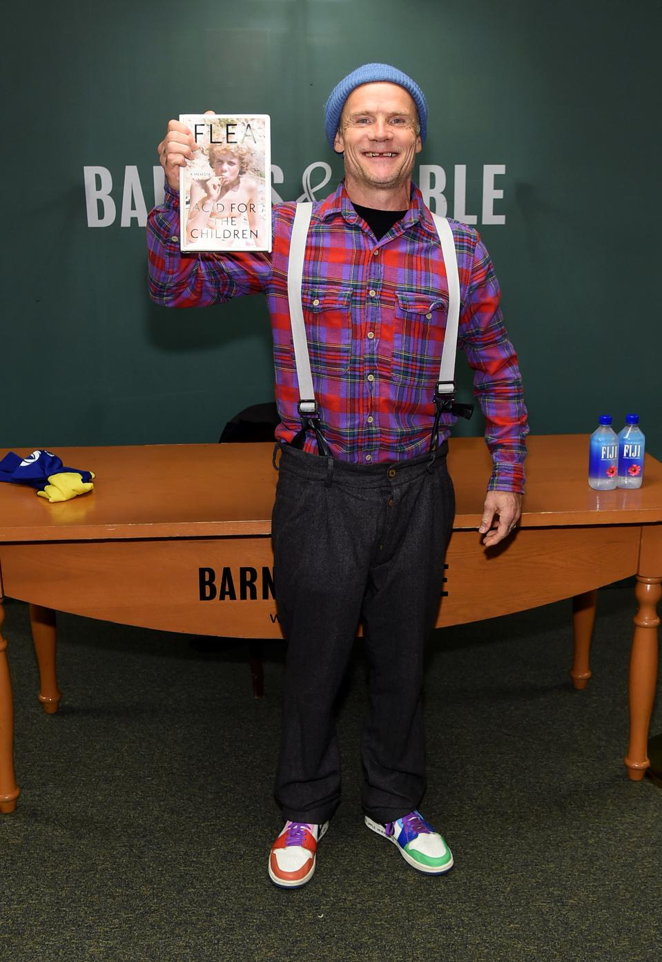 Flea Signs Copies Of His New Book ″Acid For The Children″