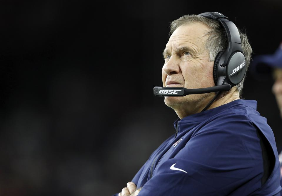 Head coach Bill Belichick of the New England Patriots.