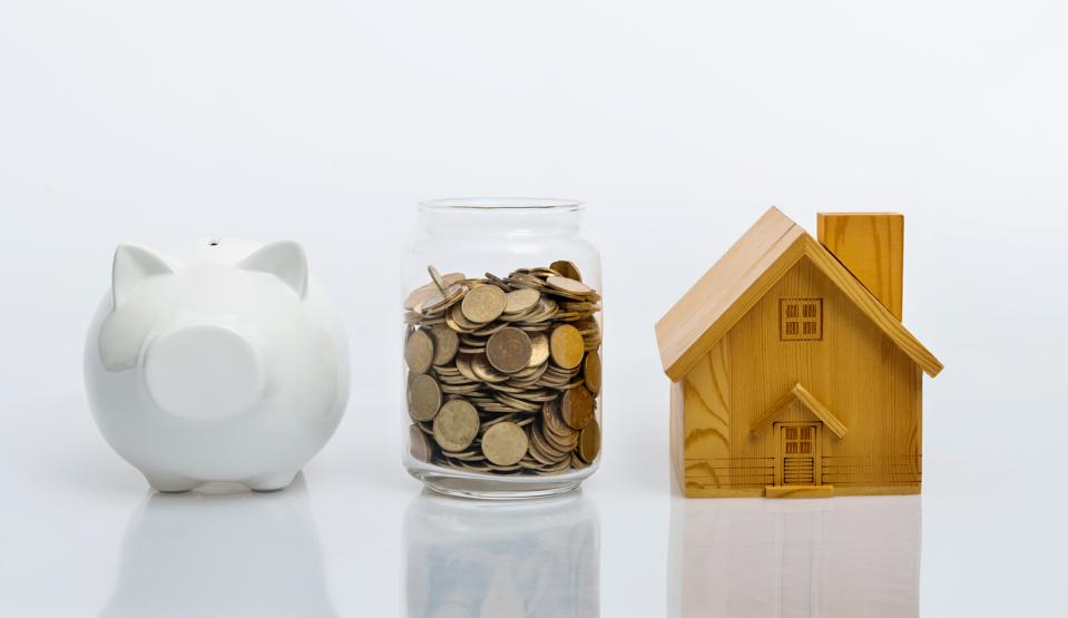 Saving money for house concept