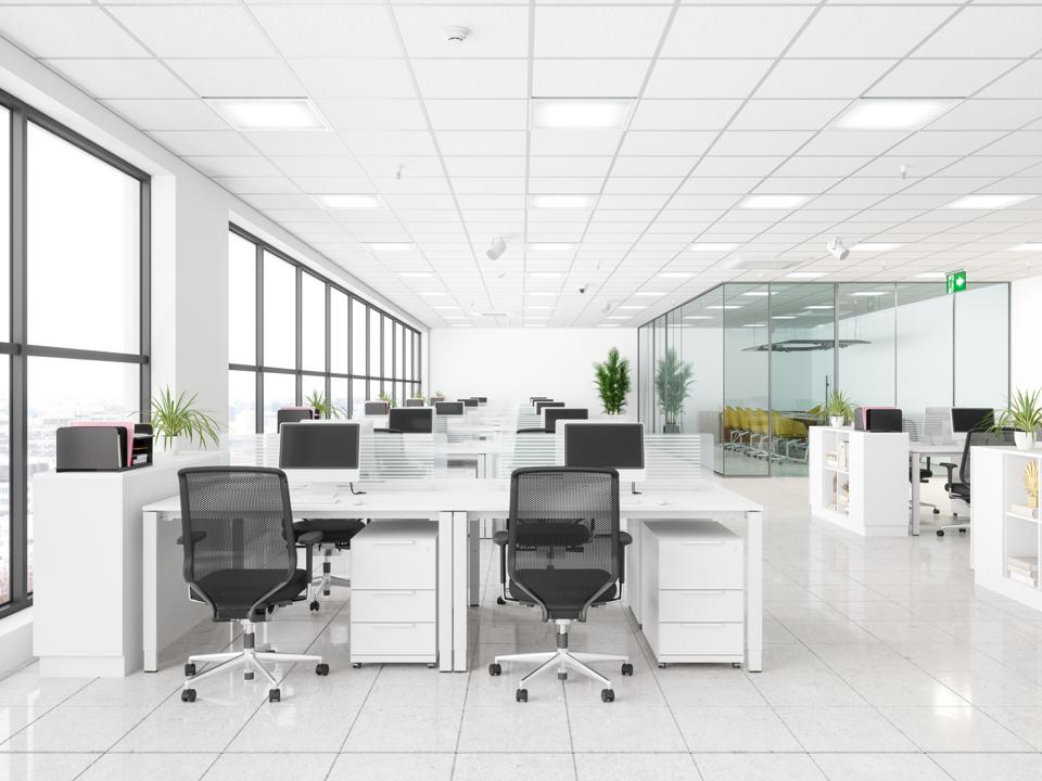 Modern Corporate Work space. Open Office And Board Room