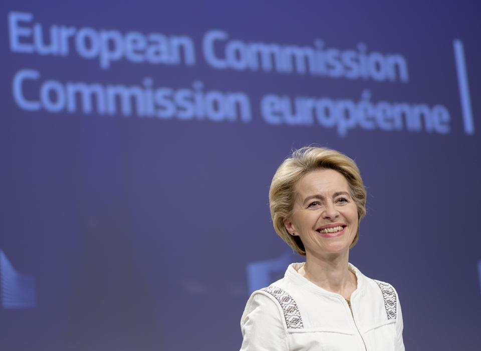 EU Commission President Ursula von der Leyen Press Conference