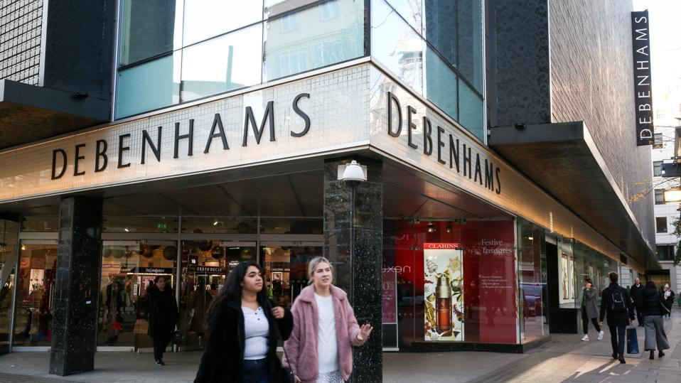 A branch of Debenhams on Oxford Street...