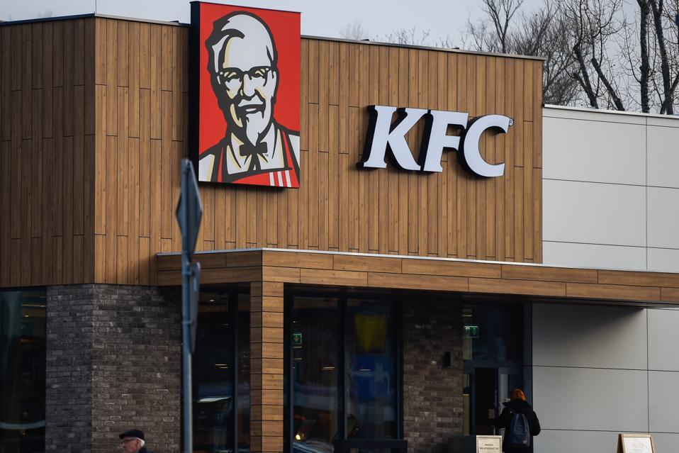 American fast food restaurant chain KFC logo seen in Krakow...