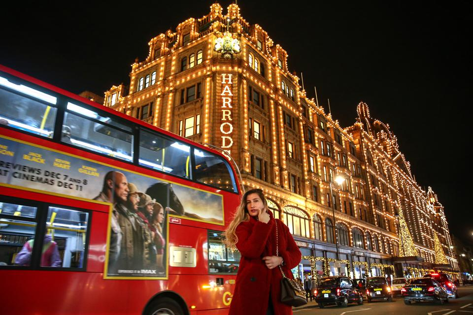 Harrods department store. Christmas In London.