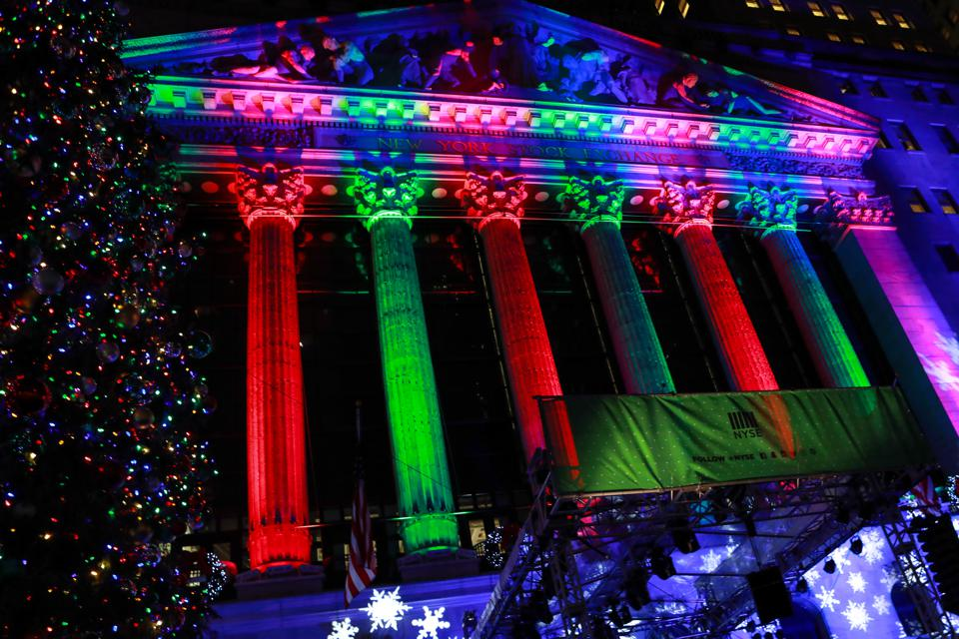 New York Stock Exchange Celebrates 96th Annual Christmas Tree Lighting