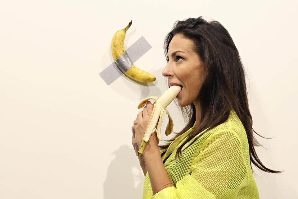 Maurizio Cattelan's ″Comedian″ On View At Art Basel Miami 2019