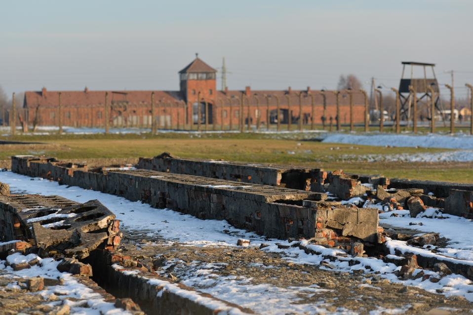 Chancellor Merkel Visits Auschwitz