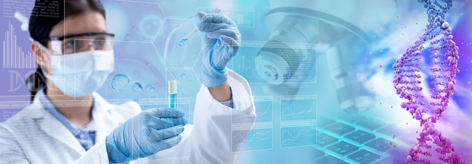 genetic research abstract concept