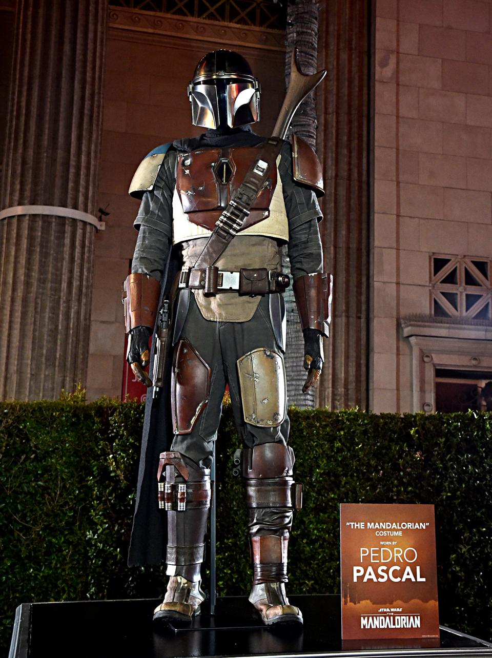 A photo of the Mandalorian suit of armor