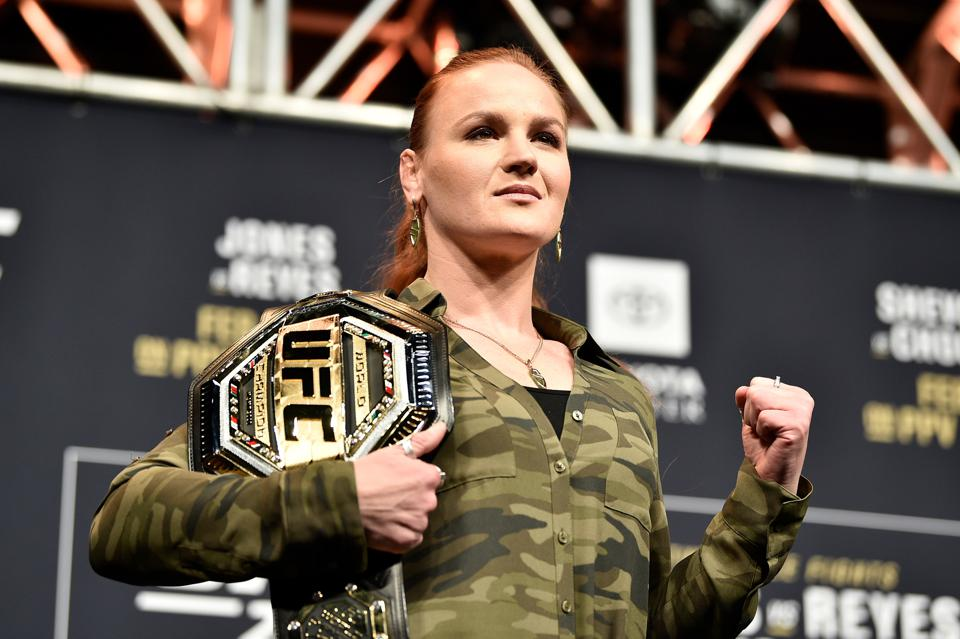 Valentina Shevchenko faces Katlyn Chookagian in the co-main event of UFC 247.