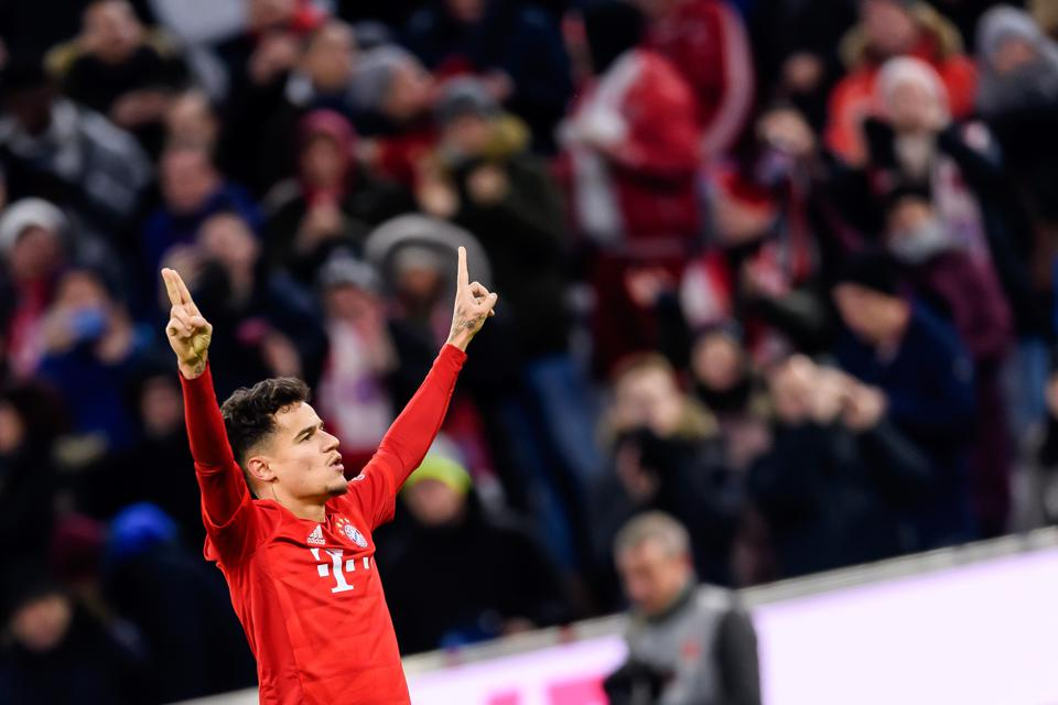 Phillipe Coutinho's hat trick and two assist haul for Bayern was a career high point