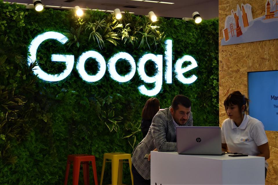 Illuminated Google Logo