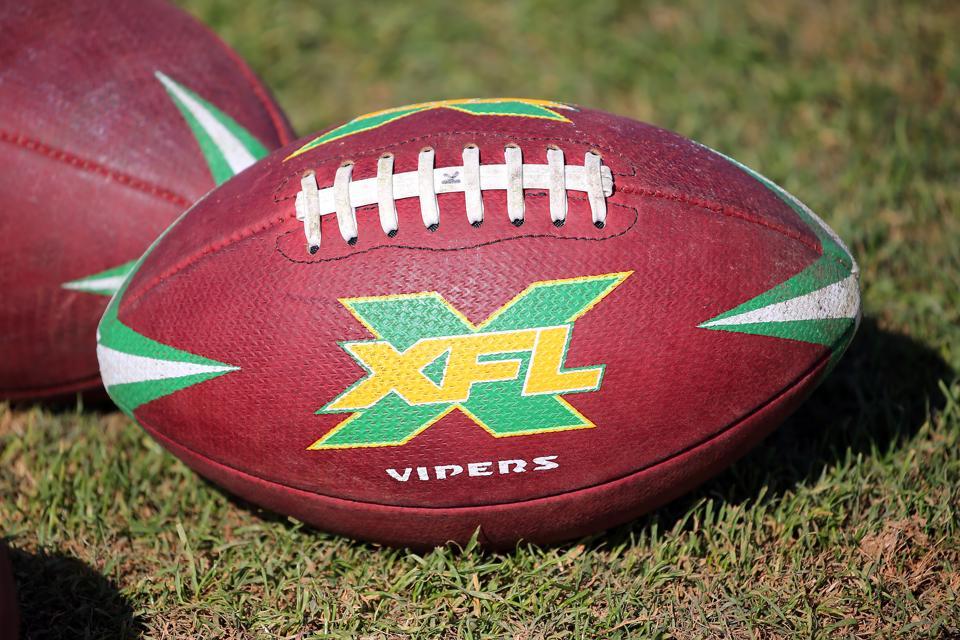 An XFL official game ball