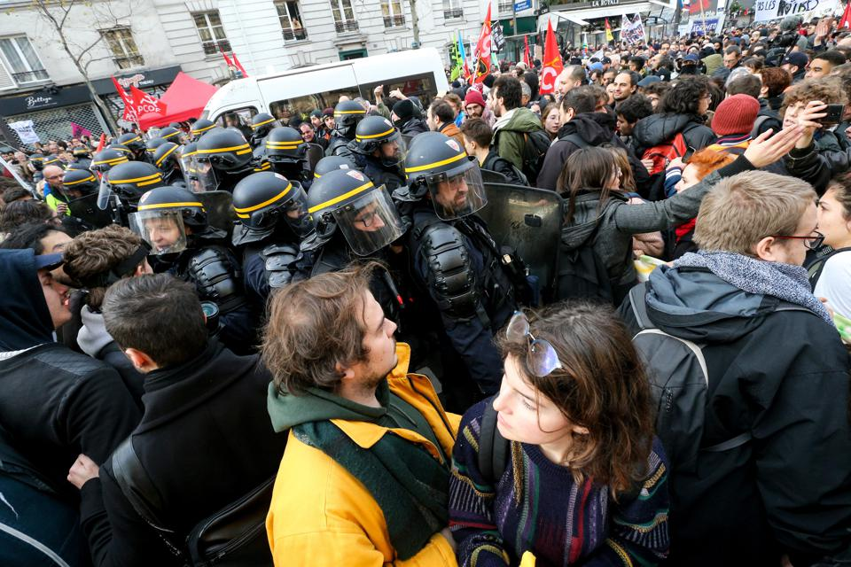 Demonstration Against Retirement Reform In Paris