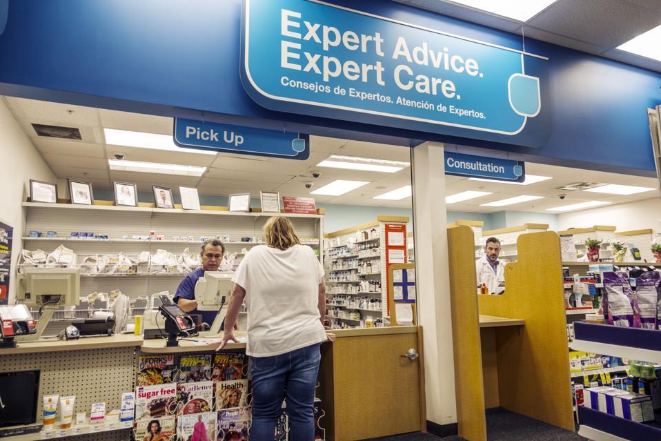 CVS Pharmacy, pharmacist counter, pick up consultation window