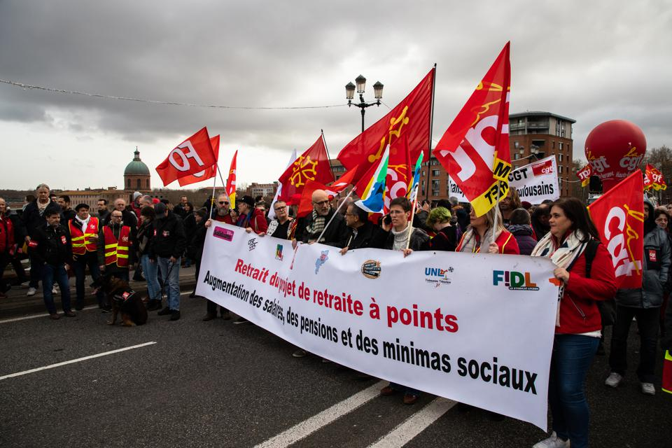 Protest Against Pension Reform In Toulouse