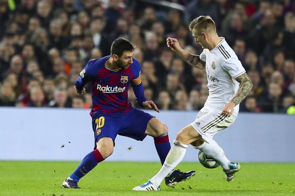 El Clasico between Barcelona and Real Madrid on Sunday could decide La Liga