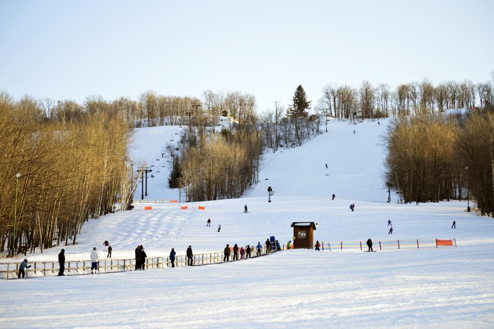 Downhill Skiers in Wisconsin