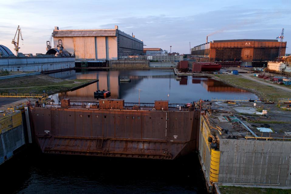Sevmash shipyard in Severodvinsk where Khabarovsk is being built