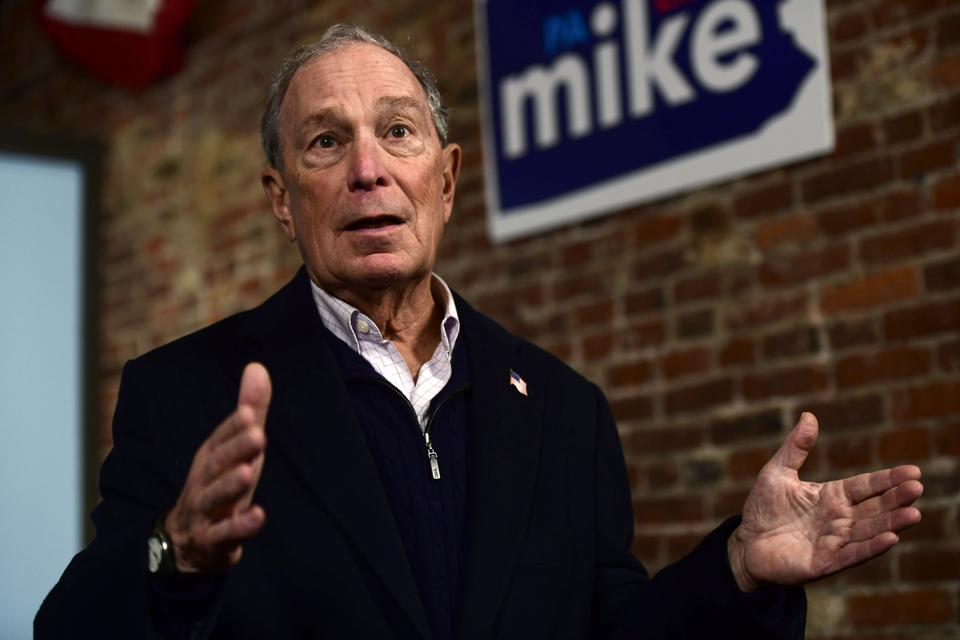 Democratic Presidential candidate Michael Bloomberg visits Philadelphia.