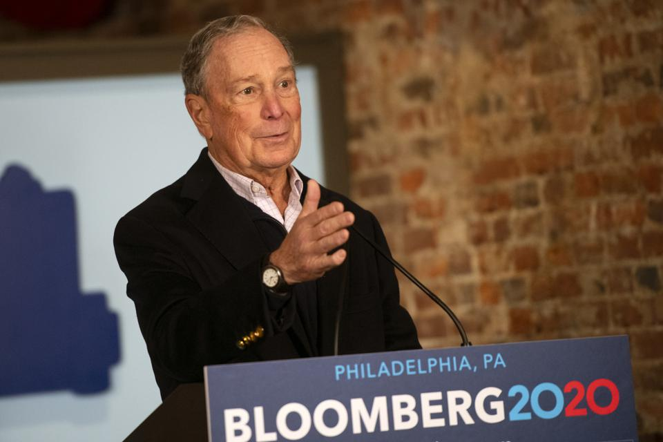 Democratic Presidential Candidate Mike Bloomberg Visits  Philadelphia