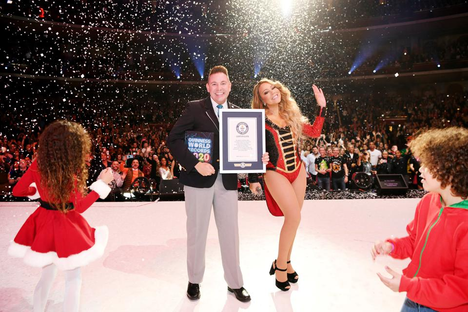 Mariah Carey Awarded Guinness World Record For Highest-charting Holiday Song By A Solo Artist At The Colosseum At Caesars Palace