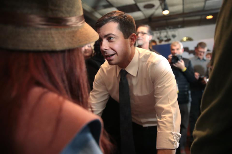 Democratic Presidential Candidate Pete Buttigieg Campaigns Across Iowa
