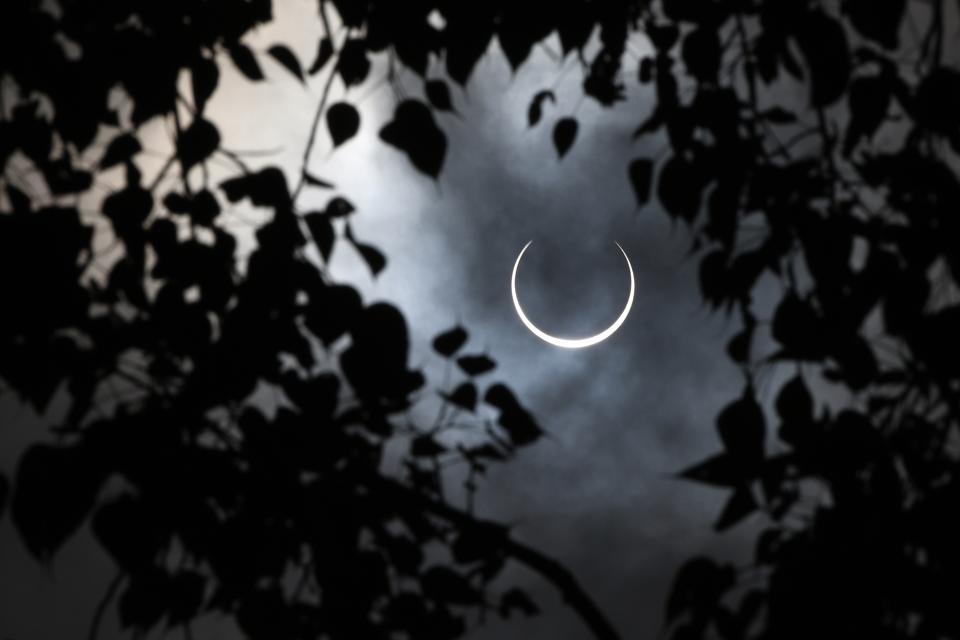 INDIA-ASTRONOMY-SOLAR-ECLIPSE