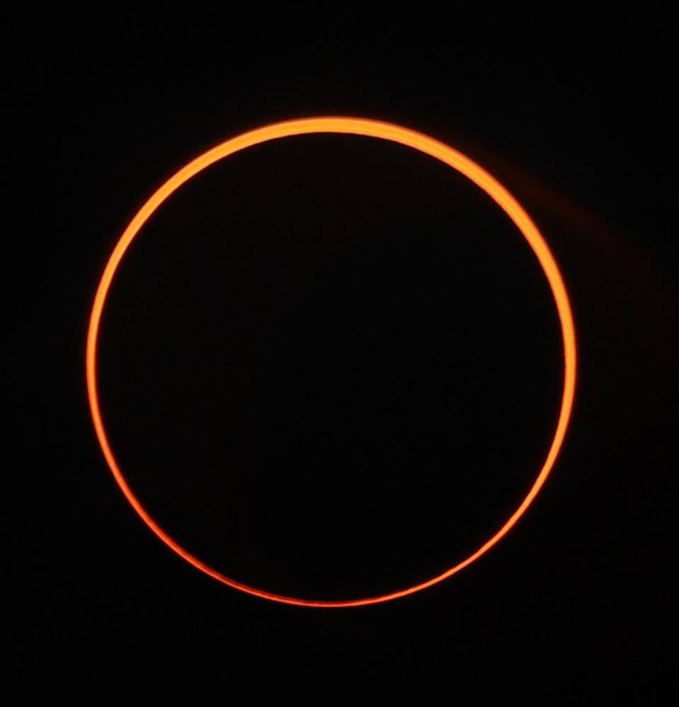 An annular solar eclipse visible from Indonesia on December 26, 2019.