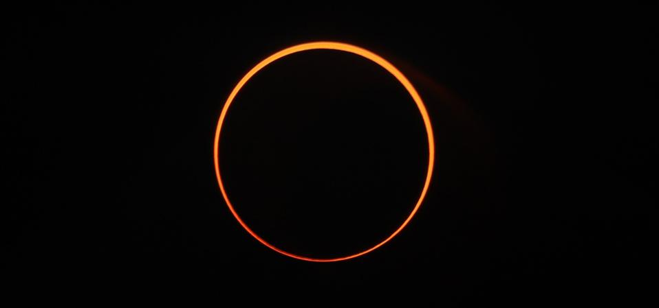An annular solar eclipse—known as a ″ring of fire″—will strike North America on June 10, 2021. (Photo by Khalis Surry/Anadolu Agency via Getty Images)