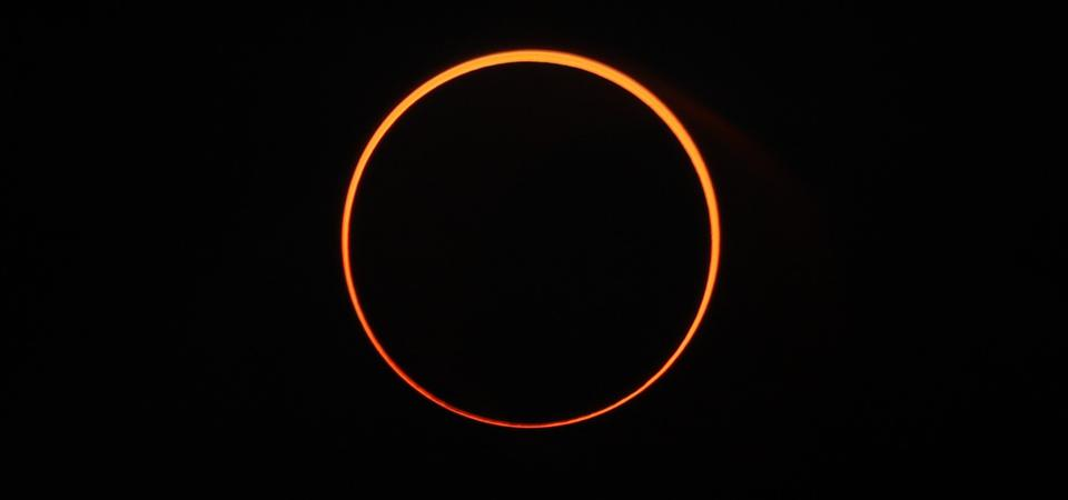Solar eclipse ″ring of fire″ in Aceh, Indonesia