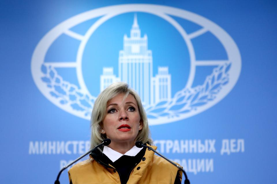 Russian Foreign Ministry Spokesperson Zakharova gives briefing